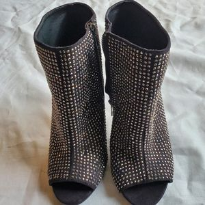 Women's Studded Dress High Heel Booties